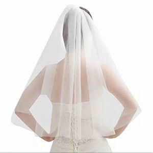 White 1 Layer Veil